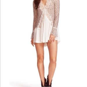 Free People mini lace dress